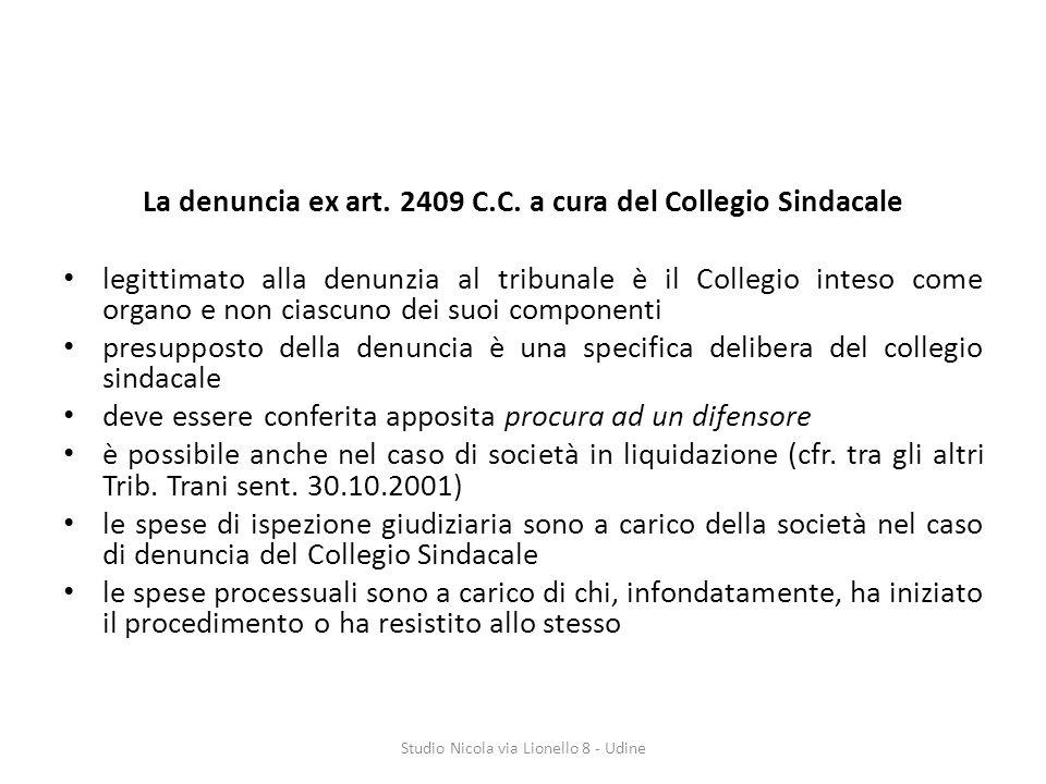 La denuncia ex art.2409 C.C.