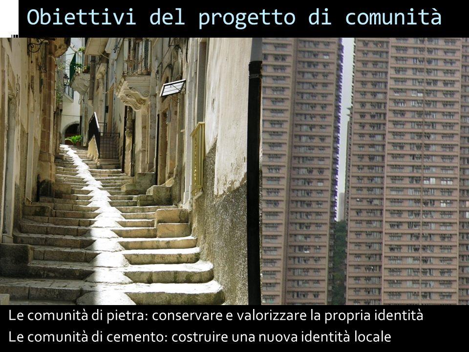 Il progetto della comunità contemporanea Due temi centrali dello sviluppo sostenibile che rappresentano anche le basi del progetto di comunità: svilup