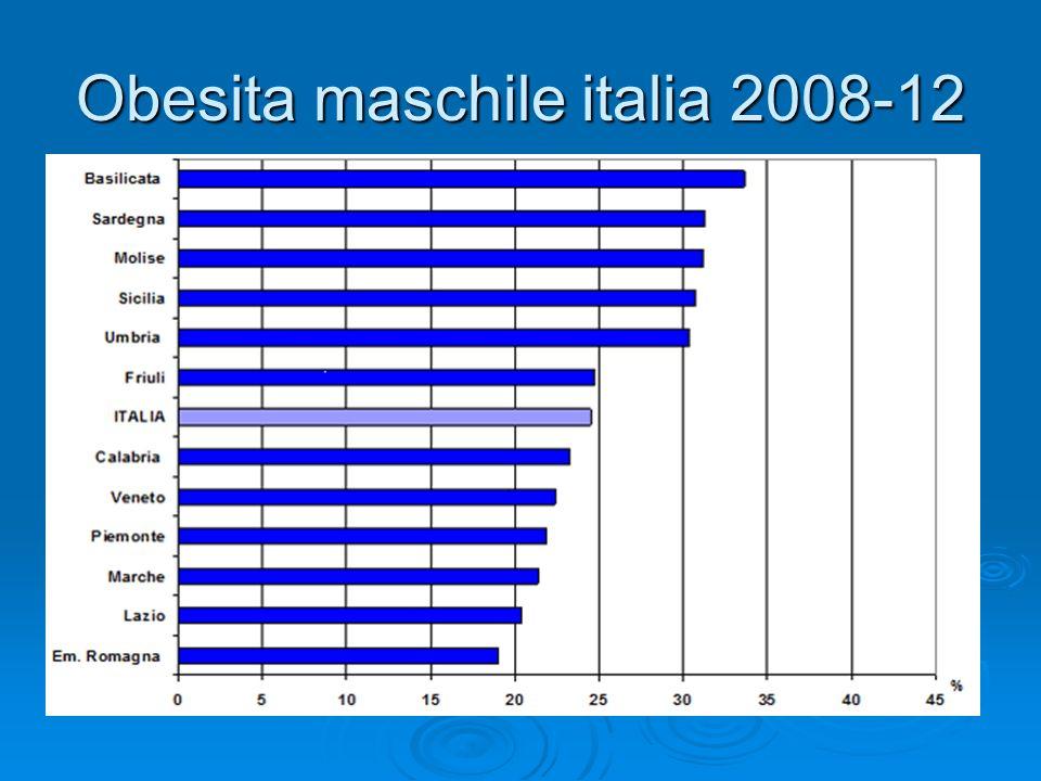 Obesita maschile italia 2008-12