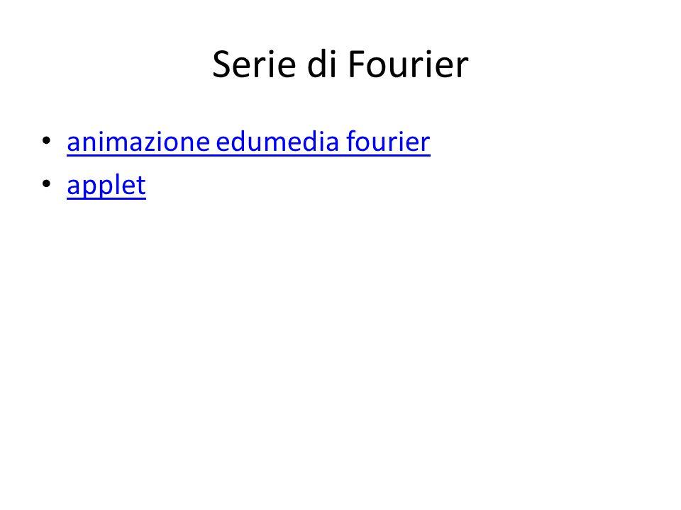 Serie di Fourier animazione edumedia fourier applet