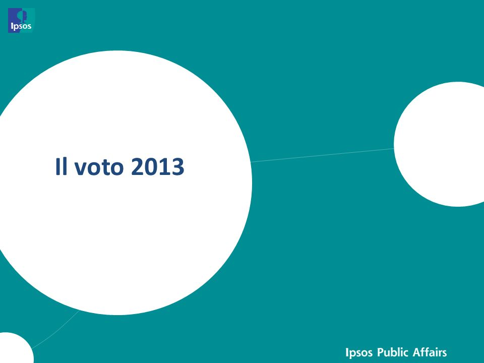 IL VOTO DEL 2013 – TASSI DI PARTECIPAZIONE PARTECIPAZIONE AL VOTO % Più intensa è la tonalità del colore e maggiore è il tasso di partecipazione