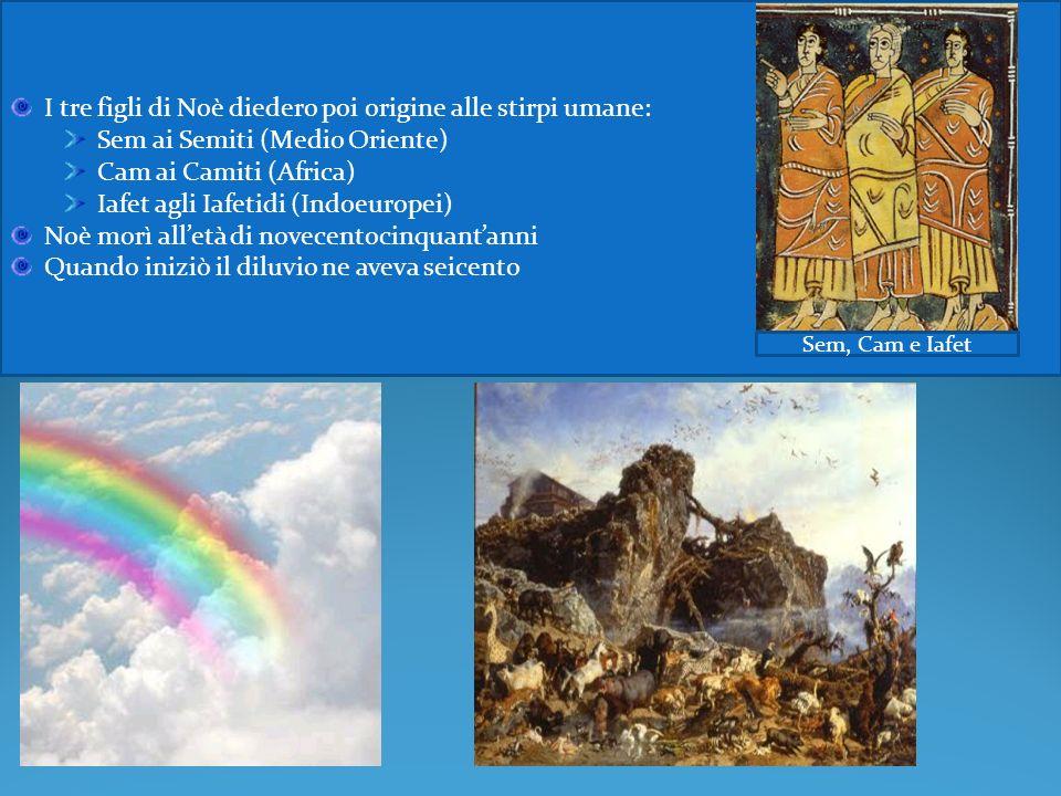 Dio ordinò a Noè di far scendere tutti gli animali e la sua famiglia dallarca, per far sì che ritornassero sulle terre e facessero riprendere la vita