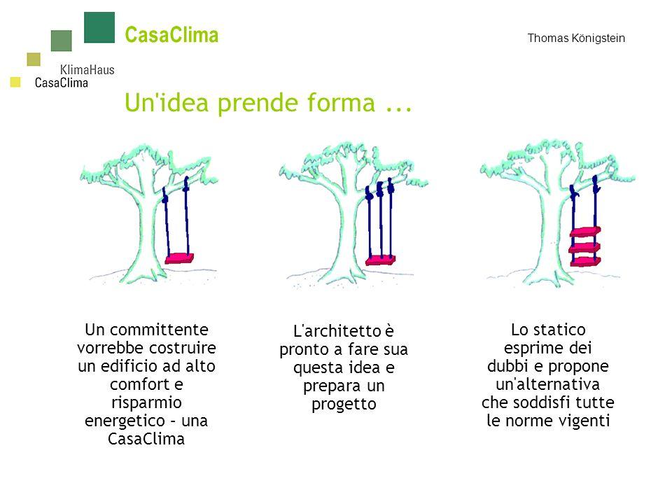 In Alto Adige lo standard di isolamento degli edifici residenziali è quello di CasaClima che è al di sotto di uno specifico fabbisogno annuale di calore: 10 kWh/(m²a) 30 kWh/(m²a) 50 kWh/(m²a) 70 kWh/(m²a) CasaClima oro CasaClima A CasaClima B CasaClima C CasaClima Thomas Königstein