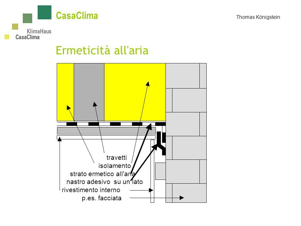 CasaClima Thomas Königstein Ermeticità all aria travetti isolamento strato ermetico all aria nastro adesivo su un lato rivestimento interno p.es.