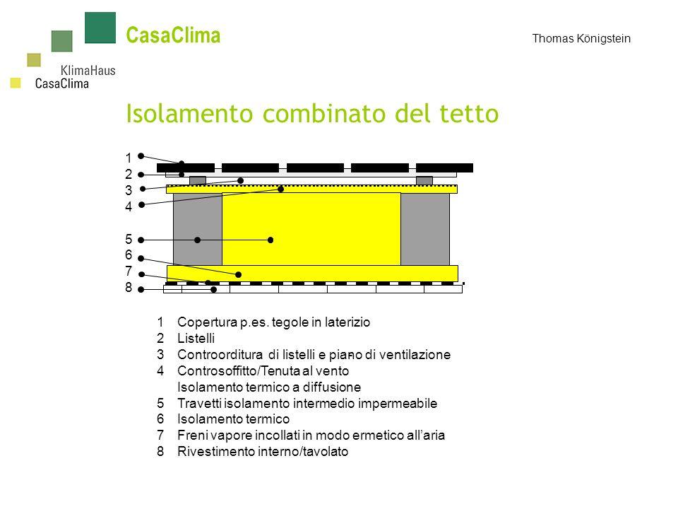 Isolamento combinato del tetto 1 2 3 4 5 6 7 8 1Copertura p.es.