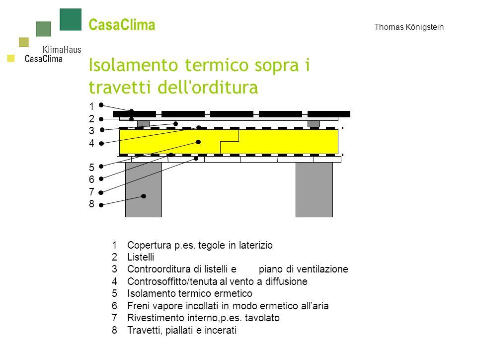 CasaClima Thomas Königstein Isolamento termico sopra i travetti dell orditura 1 2 3 4 5 6 7 8 1Copertura p.es.