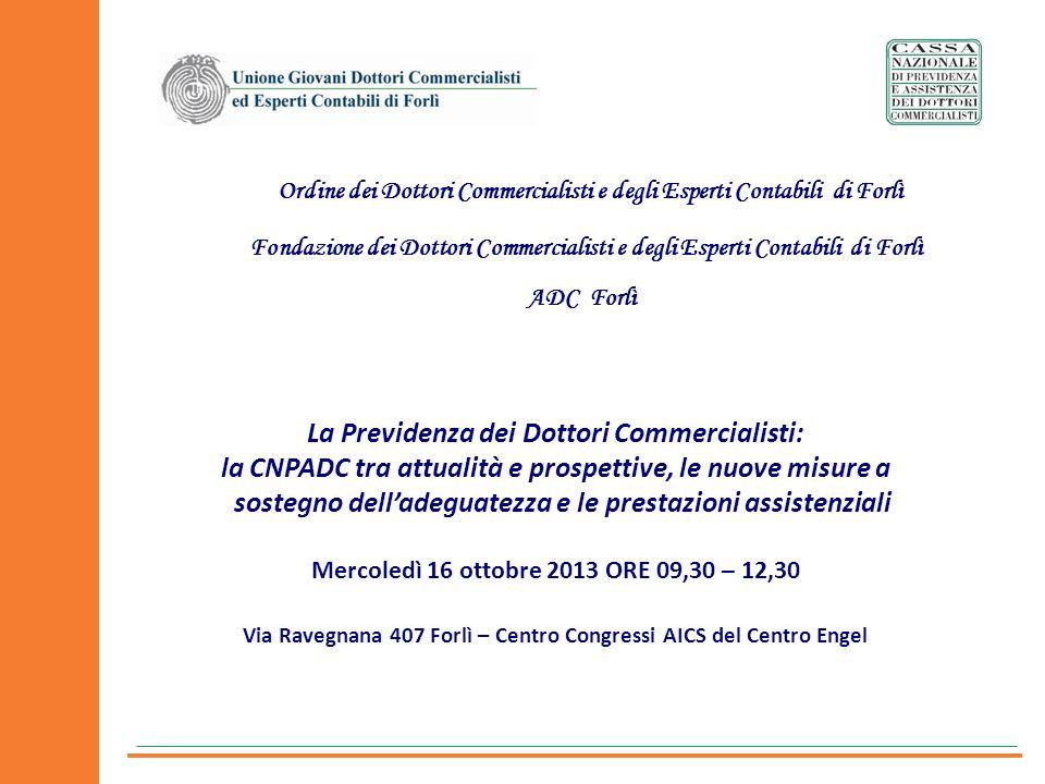 La Previdenza dei Dottori Commercialisti: la CNPADC tra attualità e prospettive, le nuove misure a sostegno delladeguatezza e le prestazioni assistenz