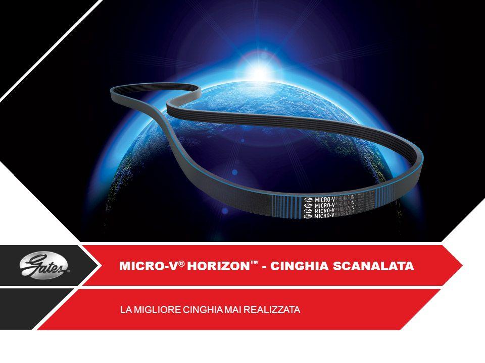 Gates offre una vasta gamma di cinghie Micro-V ® Horizon garantendo una copertura nel mercato ottimale.