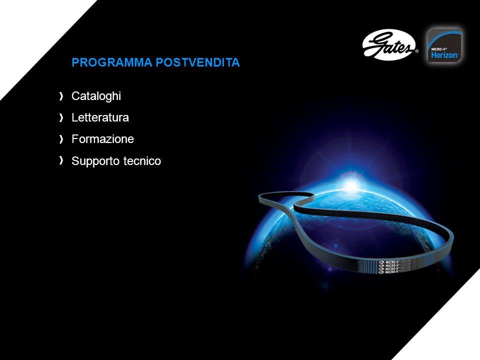 PROGRAMMA POSTVENDITA Cataloghi Letteratura Formazione Supporto tecnico