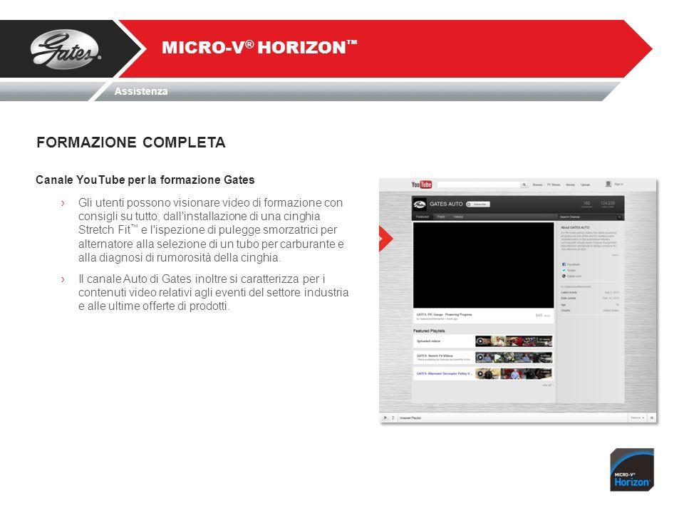 Canale YouTube per la formazione Gates Gli utenti possono visionare video di formazione con consigli su tutto, dall'installazione di una cinghia Stret