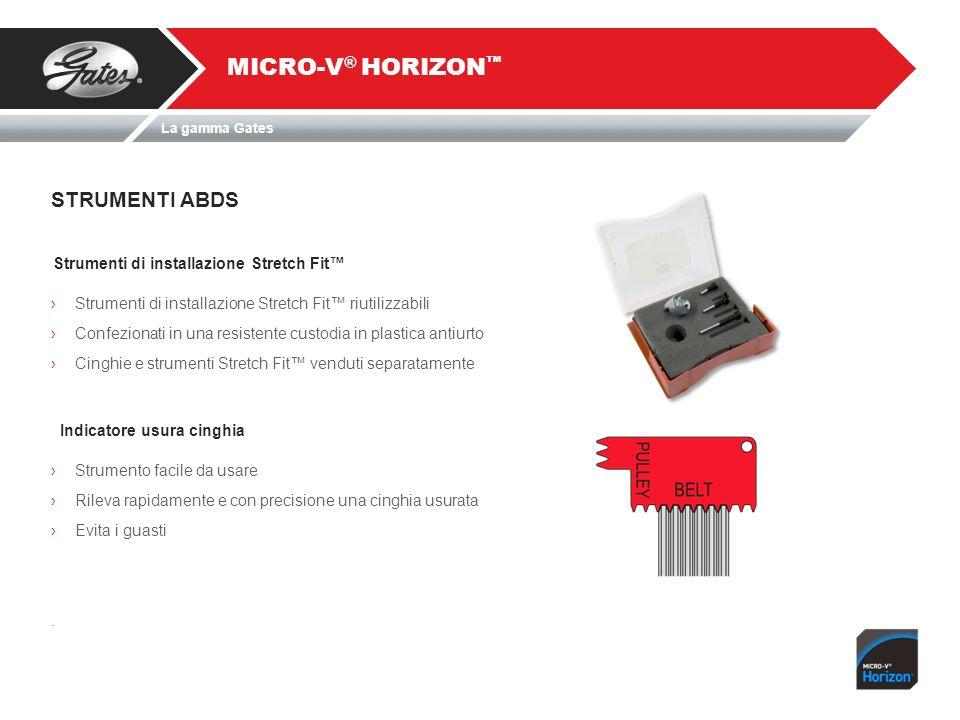 STRUMENTI ABDS MICRO-V ® HORIZON Strumenti di installazione Stretch Fit Strumenti di installazione Stretch Fit riutilizzabili Confezionati in una resi