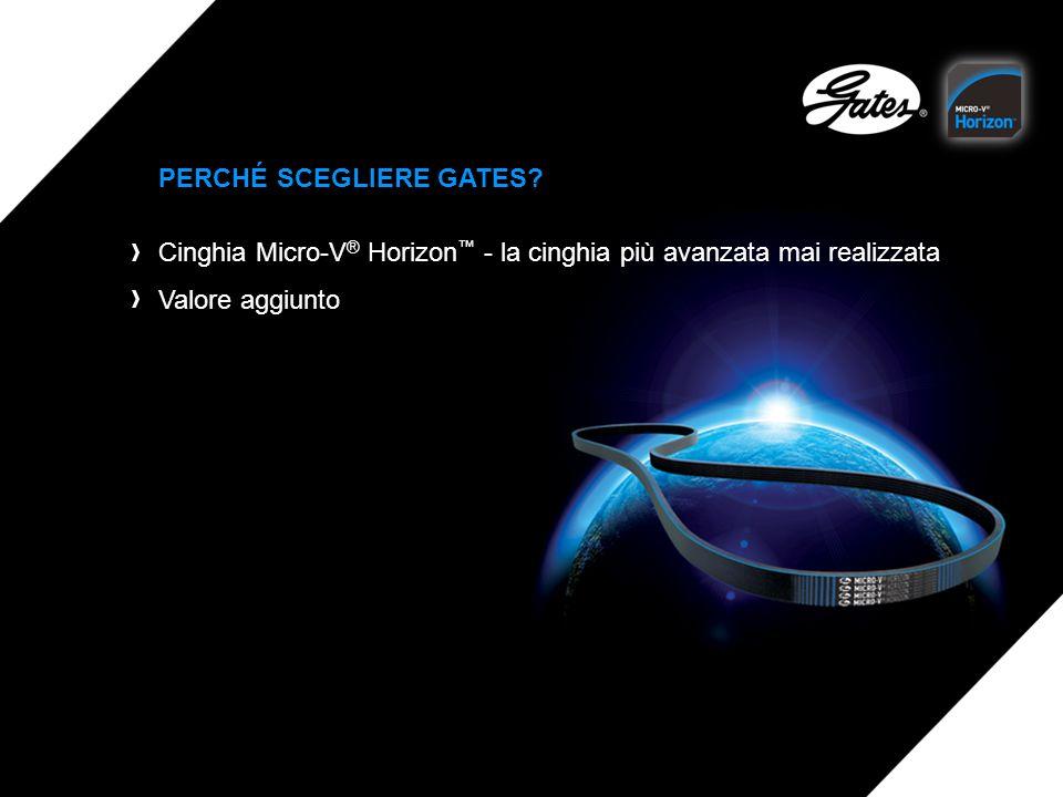 PERCHÉ SCEGLIERE GATES? Cinghia Micro-V ® Horizon - la cinghia più avanzata mai realizzata Valore aggiunto