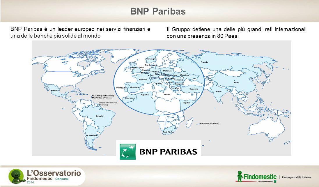 BNP Paribas BNP Paribas è un leader europeo nei servizi finanziari e una delle banche più solide al mondo Il Gruppo detiene una delle più grandi reti