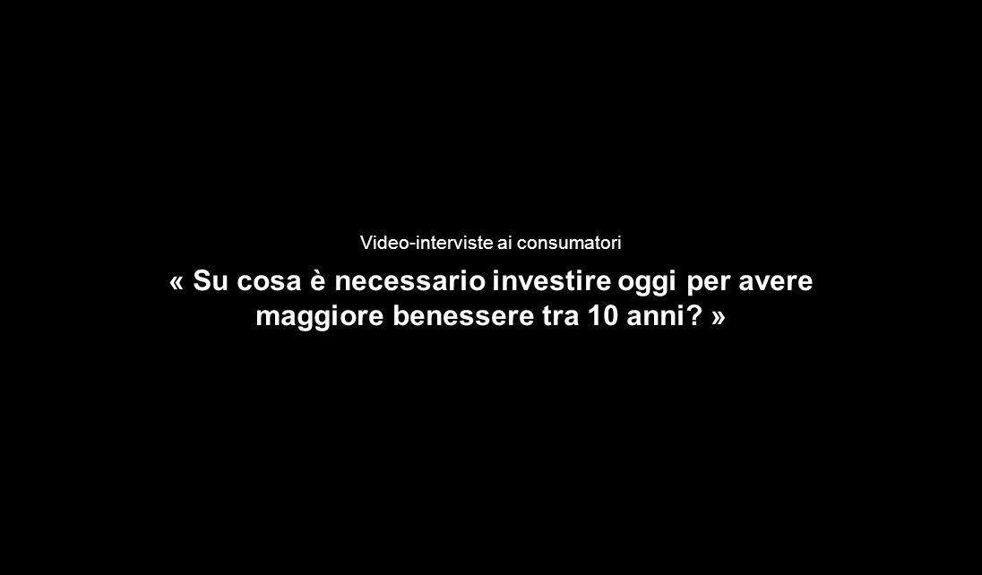 50 Video-interviste ai consumatori « Su cosa è necessario investire oggi per avere maggiore benessere tra 10 anni? »