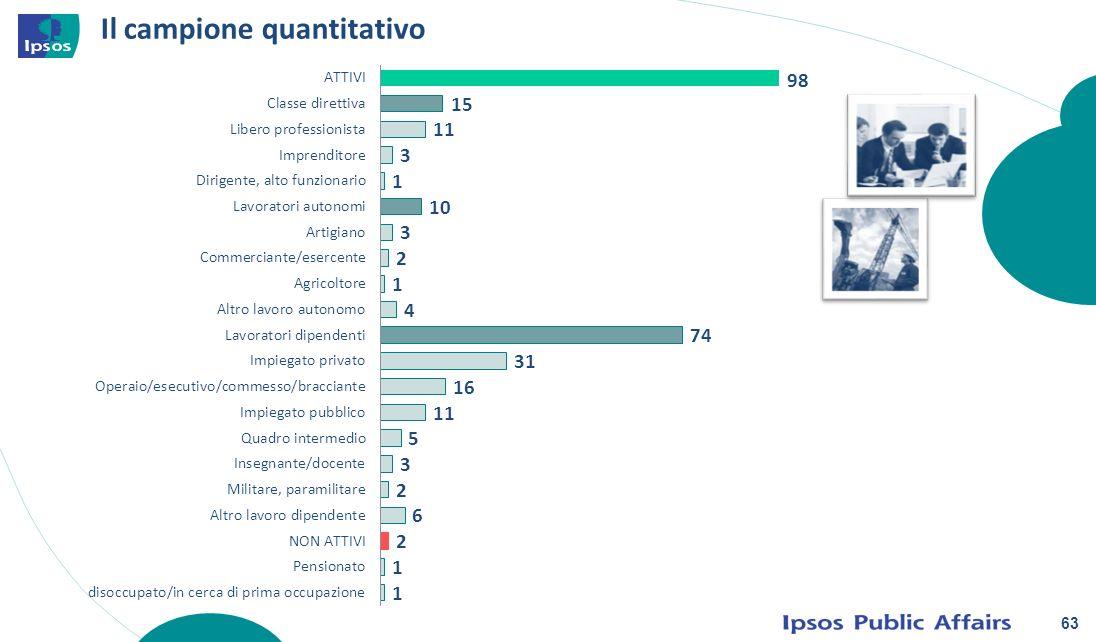 63 Il campione quantitativo