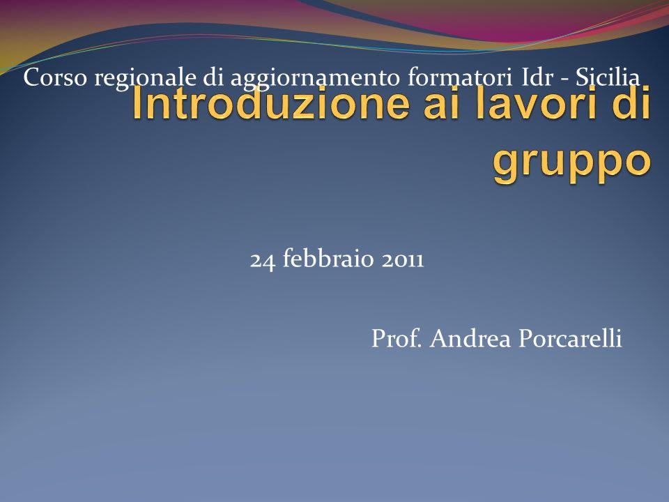 Prof. Andrea Porcarelli Corso regionale di aggiornamento formatori Idr - Sicilia 24 febbraio 2011