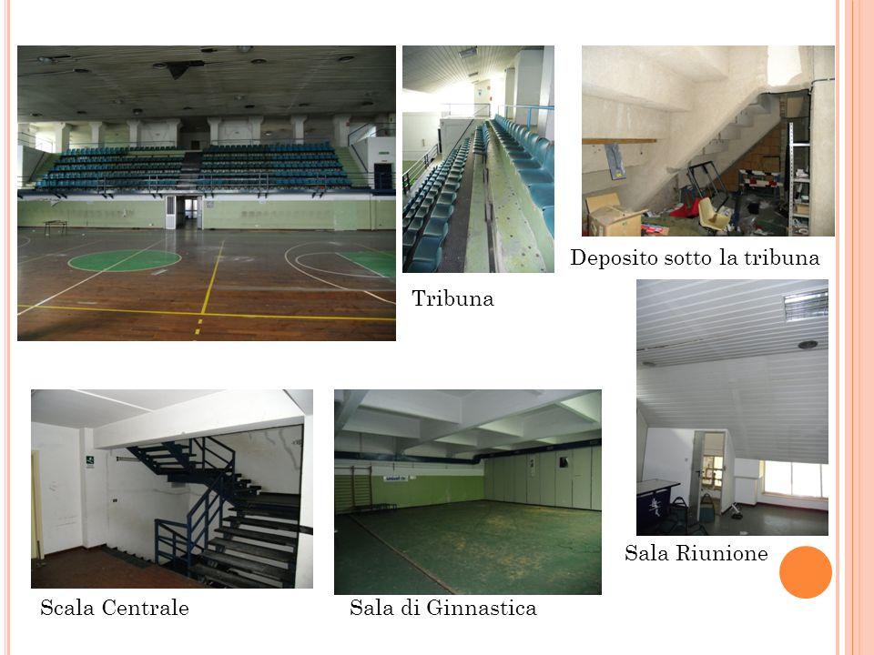Tribuna Deposito sotto la tribuna Scala CentraleSala di Ginnastica Sala Riunione