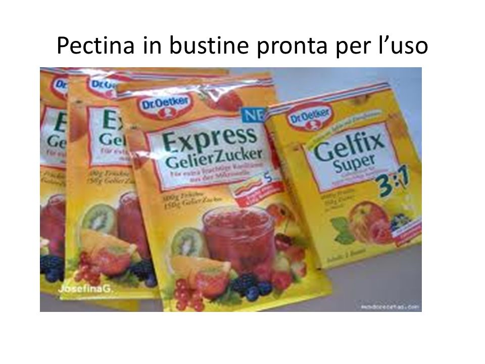 Pectina in bustine pronta per luso