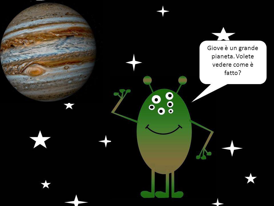 Giove è un grande pianeta. Volete vedere come è fatto?