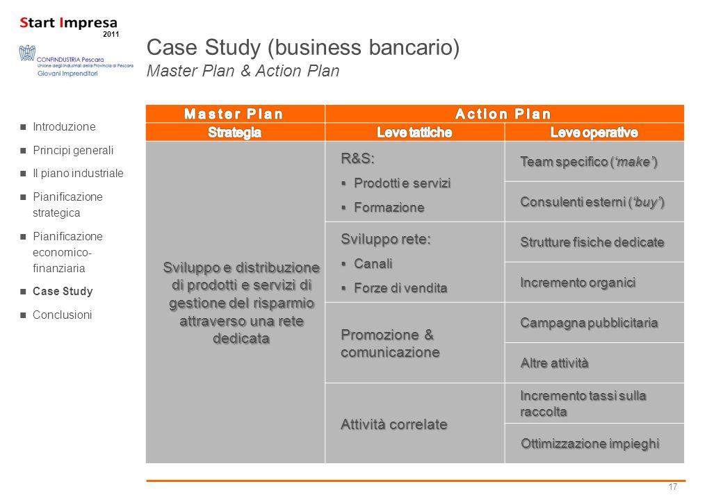 17 2011 Sviluppo e distribuzione di prodotti e servizi di gestione del risparmio attraverso una rete dedicata R&S: Prodotti e servizi Prodotti e servi