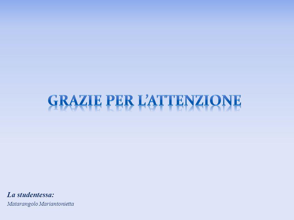 La studentessa: Matarangolo Mariantonietta