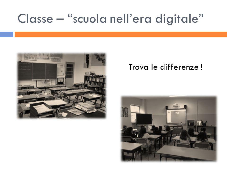 Classe – scuola nellera digitale Trova le differenze !