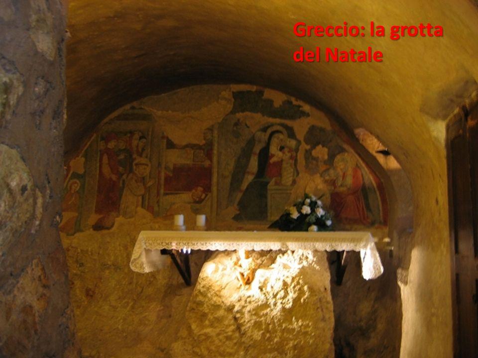 Greccio: la grotta del Natale