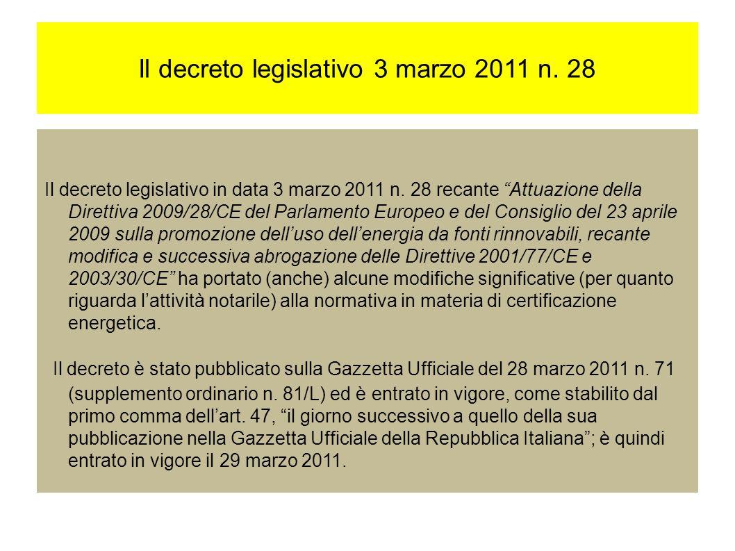 Il decreto legislativo 3 marzo 2011 n. 28 Il decreto legislativo in data 3 marzo 2011 n.