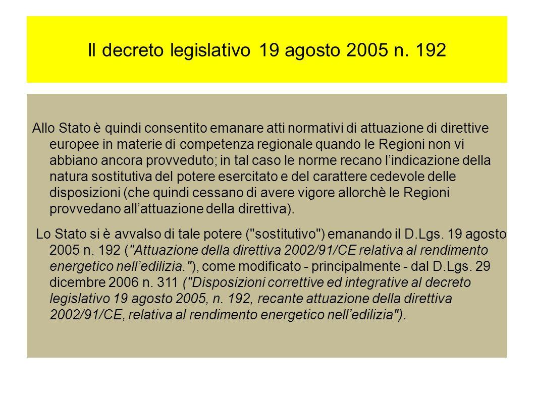 Il decreto legislativo 19 agosto 2005 n.