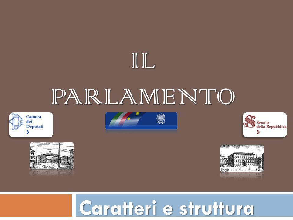 Il Parlamento: struttura bicamerale Il parlamento in seduta comune Lorganizzazione interna delle Camere Funzioni del Parlamento Ma Funziona davvero il Parlamento ?
