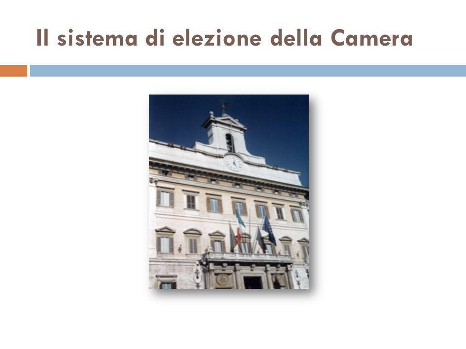 Il sistema di elezione della Camera