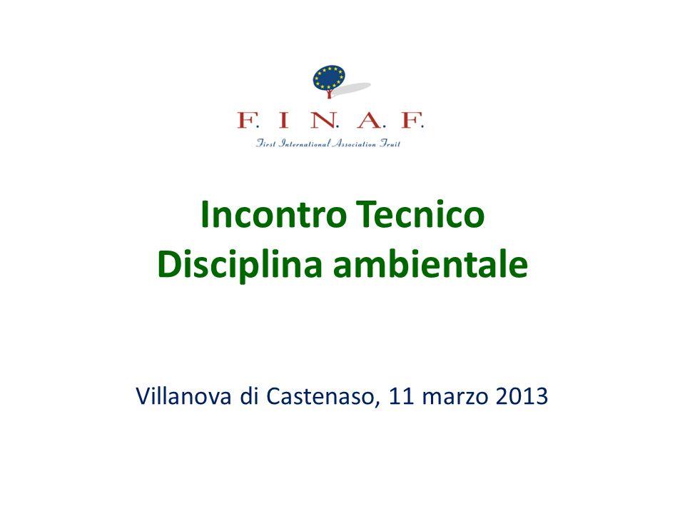 Incontro Tecnico Disciplina ambientale Villanova di Castenaso, 11 marzo 2013