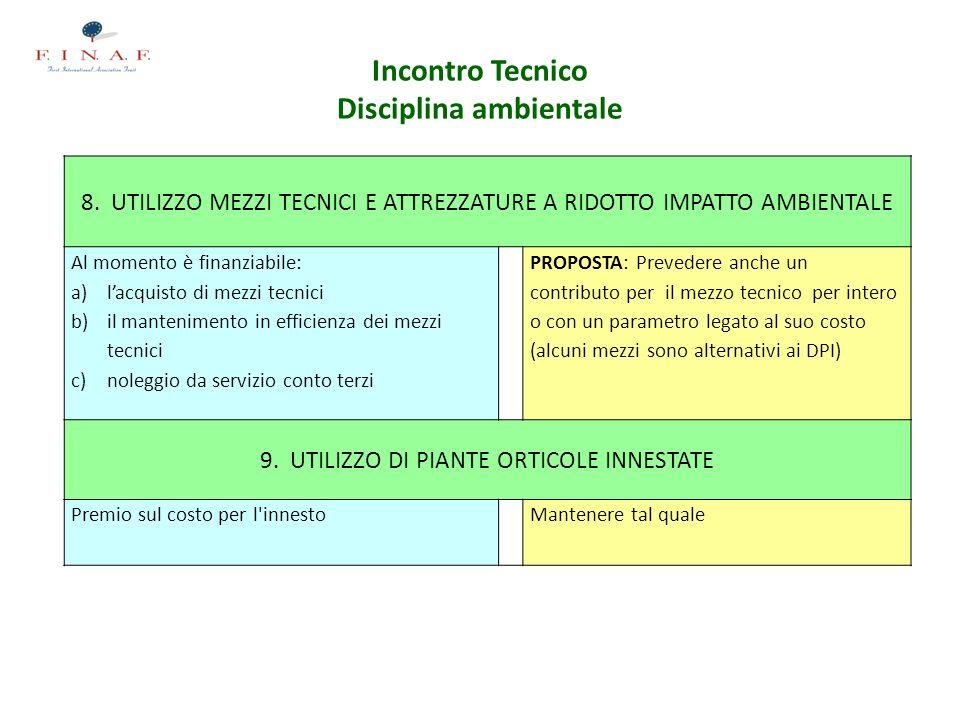 Incontro Tecnico Disciplina ambientale 8.