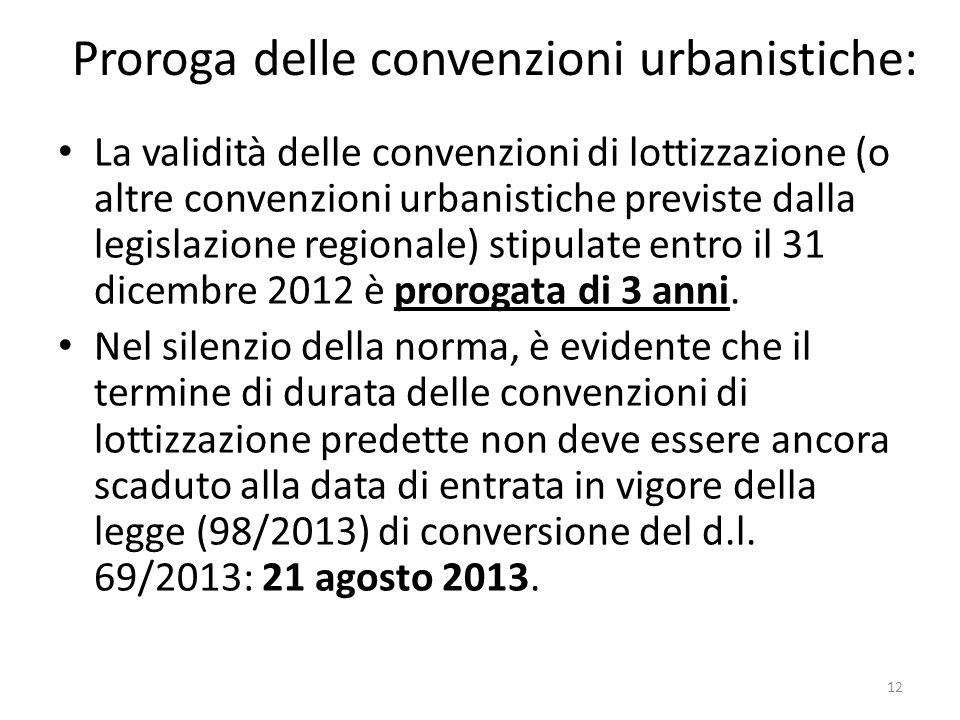Proroga delle convenzioni urbanistiche: La validità delle convenzioni di lottizzazione (o altre convenzioni urbanistiche previste dalla legislazione r