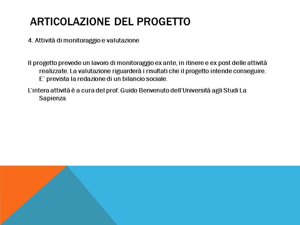 ARTICOLAZIONE DEL PROGETTO 4.