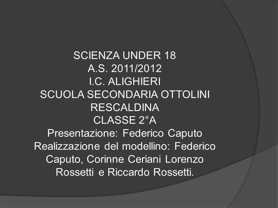 SCIENZA UNDER 18 A.S. 2011/2012 I.C. ALIGHIERI SCUOLA SECONDARIA OTTOLINI RESCALDINA CLASSE 2°A Presentazione: Federico Caputo Realizzazione del model
