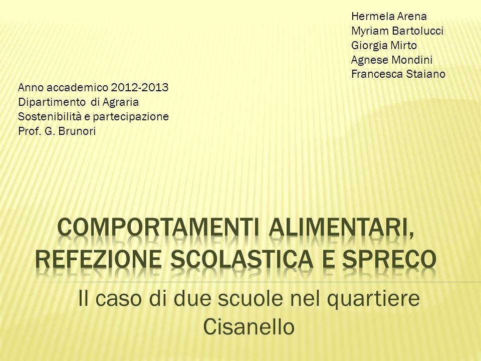 Il caso di due scuole nel quartiere Cisanello Hermela Arena Myriam Bartolucci Giorgia Mirto Agnese Mondini Francesca Staiano Anno accademico 2012-2013
