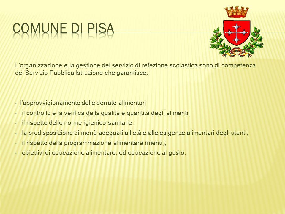 L'organizzazione e la gestione del servizio di refezione scolastica sono di competenza del Servizio Pubblica Istruzione che garantisce: l'approvvigion
