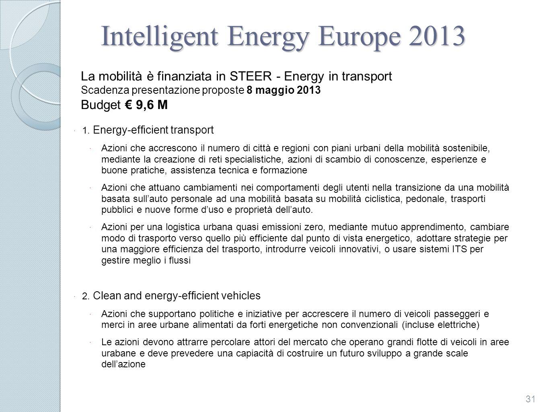 Intelligent Energy Europe 2013 1.