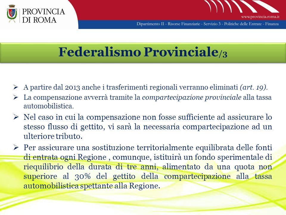 A partire dal 2013 anche i trasferimenti regionali verranno eliminati (art.