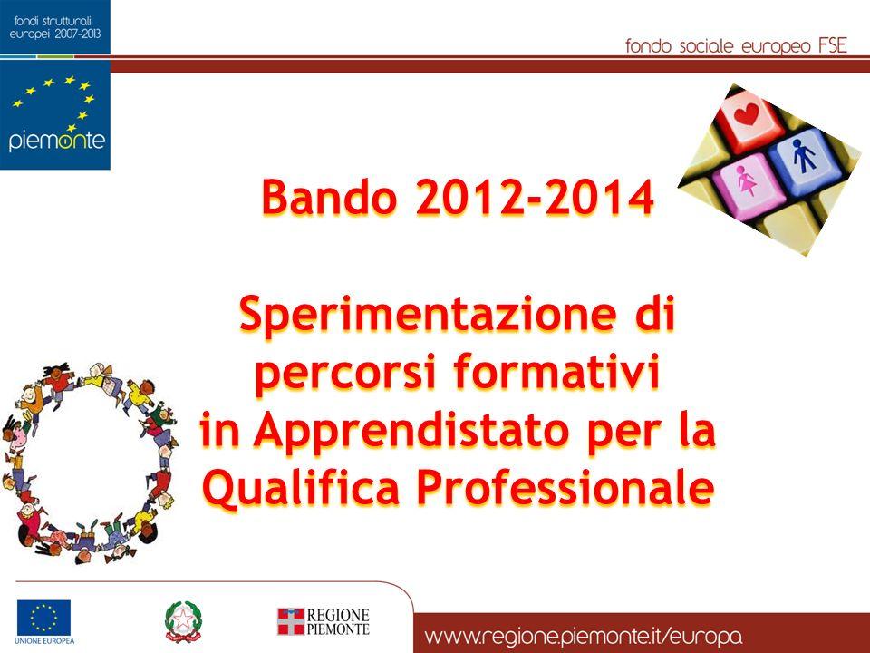 Bando 2012-2014 Sperimentazione di percorsi formativi in Apprendistato per la Qualifica Professionale
