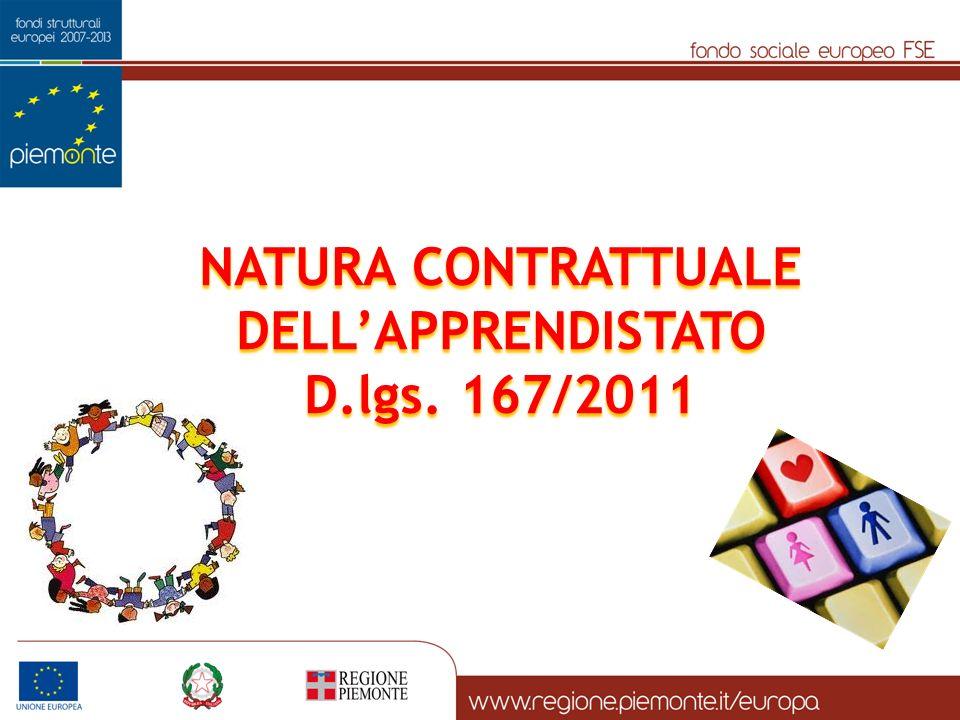 NATURA CONTRATTUALE DELLAPPRENDISTATO D.lgs. 167/2011