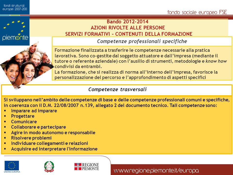 47 Si sviluppano nellambito delle competenze di base e delle competenze professionali comuni e specifiche, in coerenza con il D.M. 22/08/2007 n.139, a