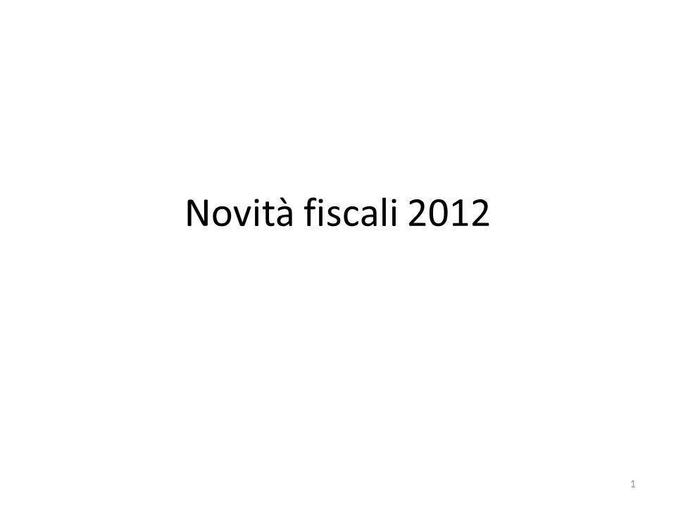 Novità fiscali 2012 1