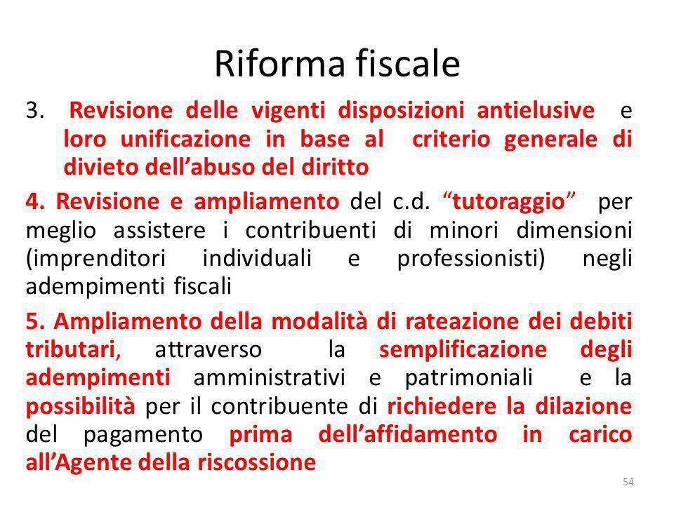 Riforma fiscale 3.