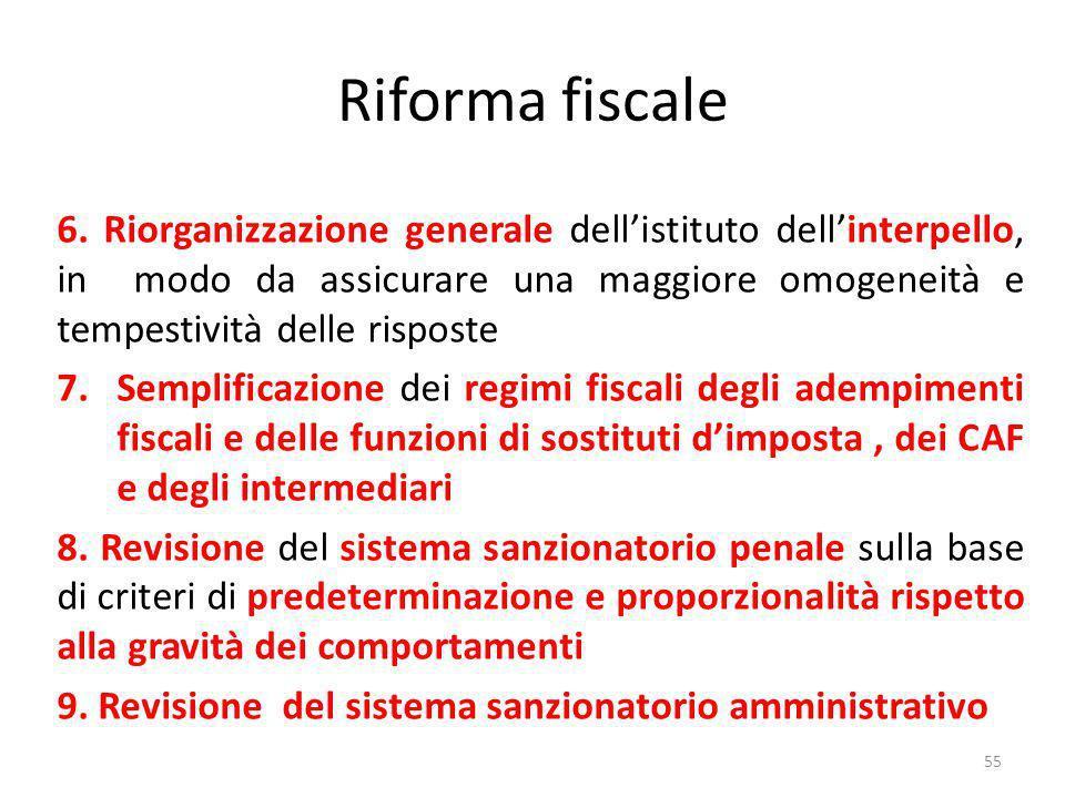 Riforma fiscale 6.