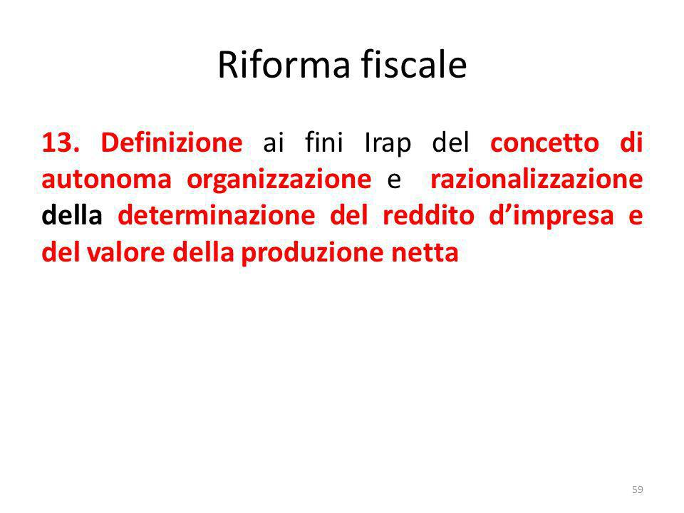 Riforma fiscale 13.