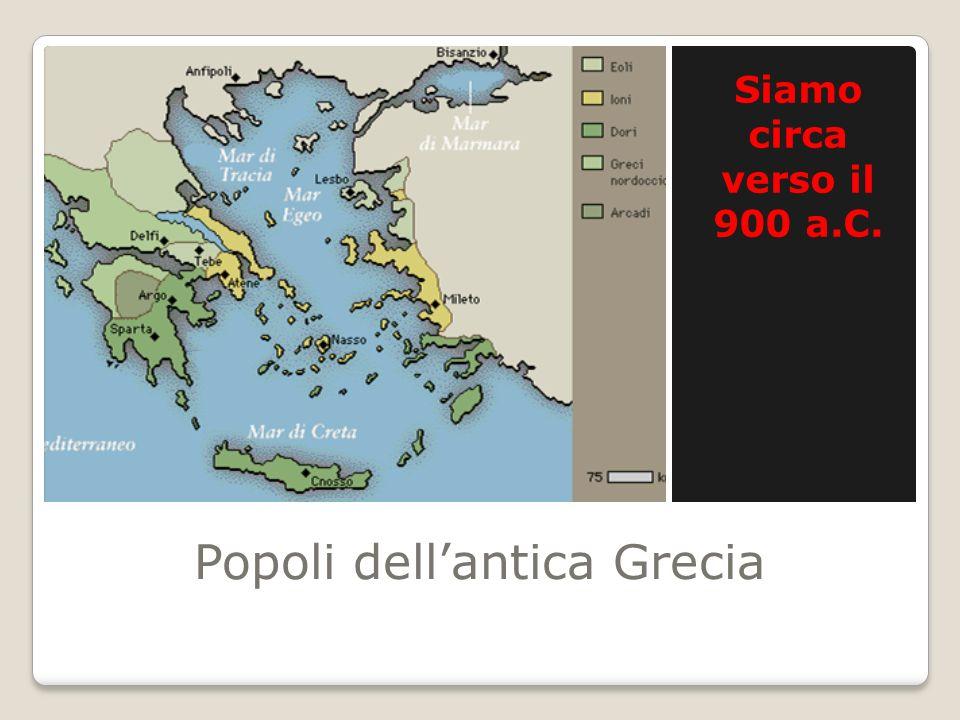 Popoli dellantica Grecia Siamo circa verso il 900 a.C.