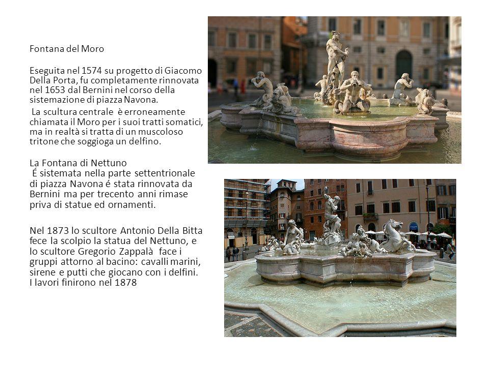 Fontana dei Quattro Fiumi Insieme alla Fontana di Trevi, è uno dei più riusciti progetti destinati ad abbellire piazze con lo scroscio dellacqua e i suoi giochi di luce.