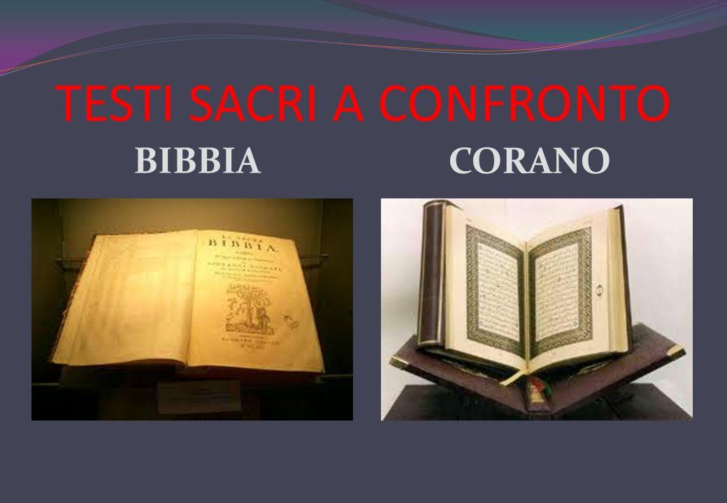 TESTI SACRI A CONFRONTO BIBBIA CORANO